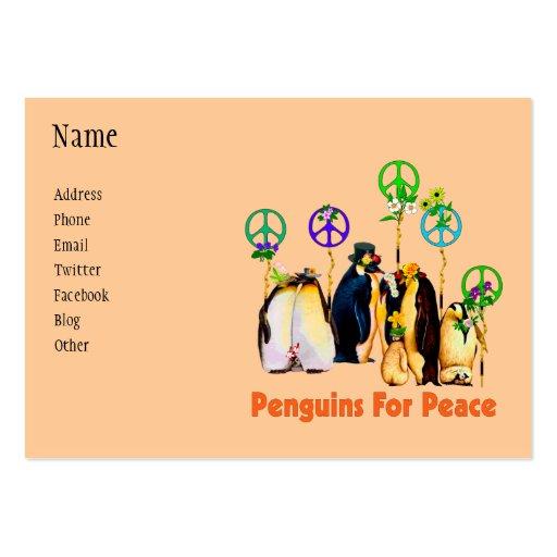 Pinguins da paz modelo cartao de visita