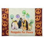Pinguins da paz suporte para pratos