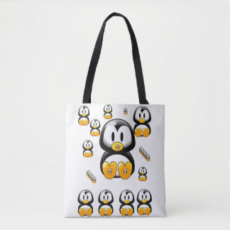 pinguins da sacola bolsa tote