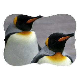 Pinguins de marcha convites personalizados