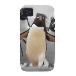 Pinguins de Rockhopper Capa Para iPhone 4/4S