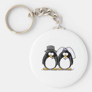 Pinguins dos noivos chaveiro