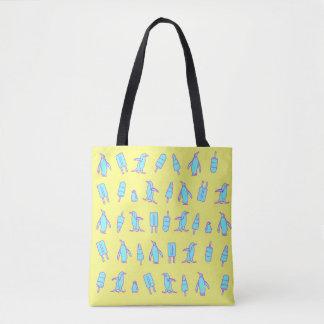 Pinguins e sacola dos Lollies Bolsa Tote