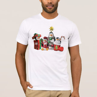 Pinguins festivos camiseta