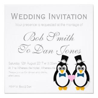 Pinguins que Wedding o convite (Mr&Mr)
