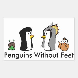 Pinguins sem etiqueta dos pés