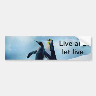 Pinguins Vivas e Deixe Viver Adesivo Para Carro