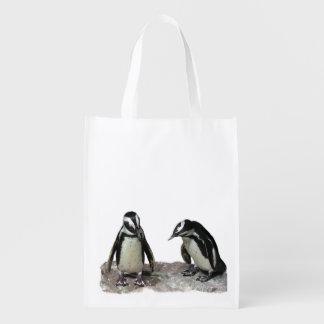 Pinguins Sacolas Reusáveis