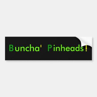 Pinheads de Buncha Adesivo Para Carro