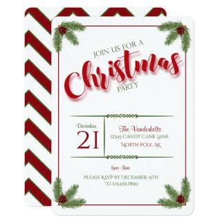 Pinho e festa de Natal das bagas Convite 12.7 X 17.78cm
