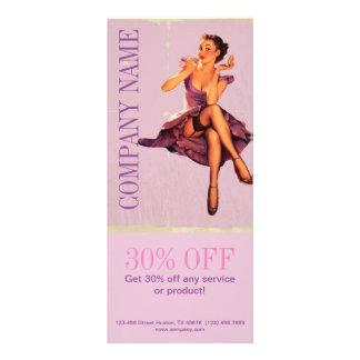 pino cor-de-rosa chique acima do maquilhador do 10.16 x 22.86cm panfleto