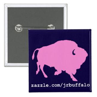 pino cor-de-rosa do quadrado do búfalo bóton quadrado 5.08cm