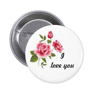 Pino cor-de-rosa romântico dos rosas bóton redondo 5.08cm
