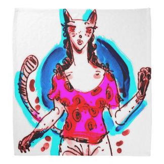 pino da senhora do gato acima do pop art faixa de cabeça