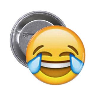 Pino de riso do emoji bóton redondo 5.08cm