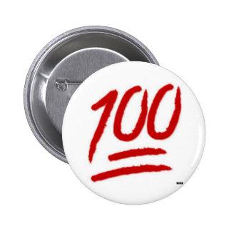 pino do emoji 100 bóton redondo 5.08cm