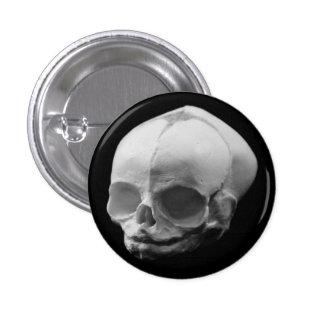 Pino infantil assustador do botão do gótico do crâ bóton redondo 2.54cm