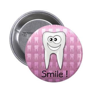 Pino legal do higienista dental do sorriso botons