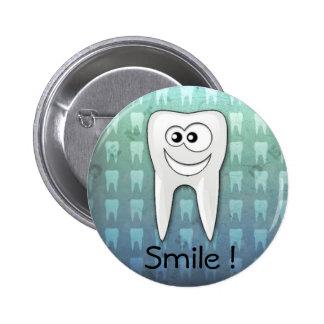 Pino legal do higienista dental do sorriso bóton redondo 5.08cm