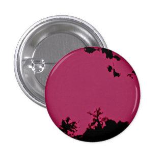 Pino preto cor-de-rosa do botão bóton redondo 2.54cm