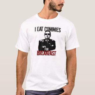 Pinochet - eu como Commies para o pequeno almoço Camiseta