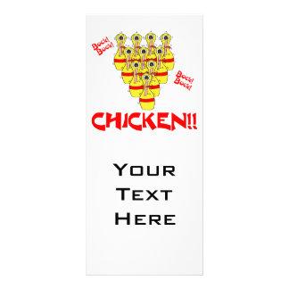 pinos de boliche scared engraçados da galinha da c panfleto informativo