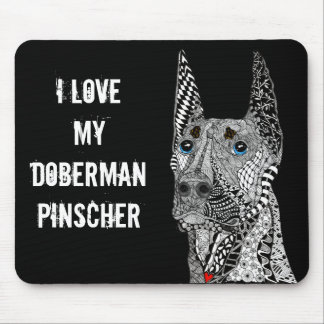 Pinscher Mousepad do Doberman (customizável)