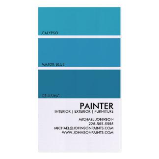 Pinte a amostra de folha cartão de visita