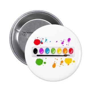 pinte a caixa com splatters bóton redondo 5.08cm