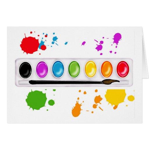 pinte a caixa com splatters cartão