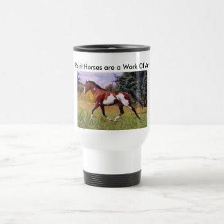 Pinte a caneca trotar do cavalo