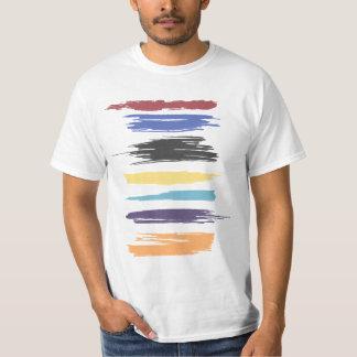 Pinte a cor abstrata artística dos cursos camisetas