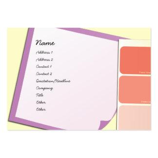 Pinte amostras e notas cartão de visita