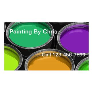 Pinte cartões de visitas do pintor das latas