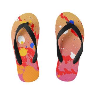Pinte chinelos dos Splatters