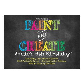 Pinte e criar o convite do aniversário do quadro
