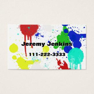 Pinte espirra o cartão de visita
