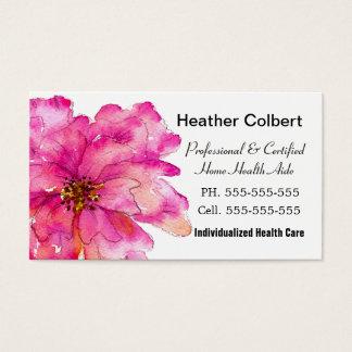 Pinte-me cuidador alegre cor-de-rosa profissional cartão de visitas
