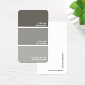 Pinte microplaquetas cinzentas mornas da pintura cartão de visitas