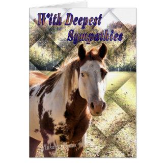 Pinte o cartão de simpatia do cavalo