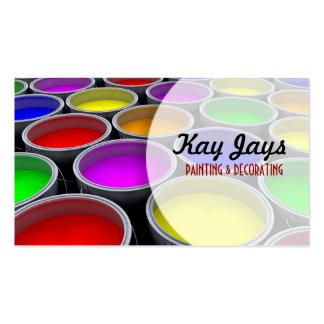 Pinte o cartão de visita das latas