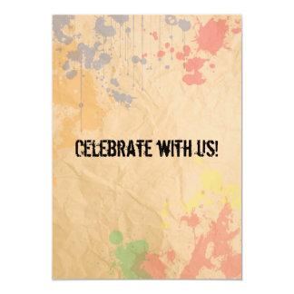 Pinte o convite do Splatter