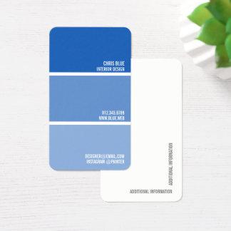 Pinte o decorador azul do pintor das cartão de visitas