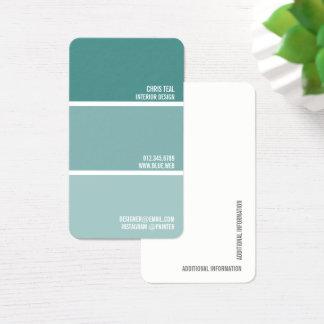 Pinte o decorador do pintor das microplaquetas da cartão de visitas