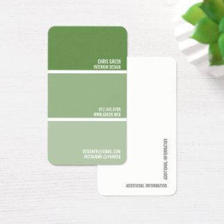 Pinte o decorador verde do pintor das cartão de visitas