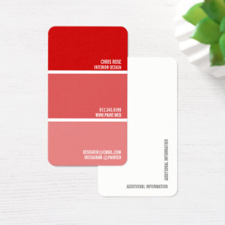 Pinte o decorador vermelho do pintor das cartão de visitas