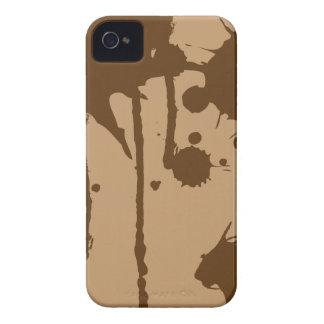 Pinte o Splatter Brown Capinhas iPhone 4