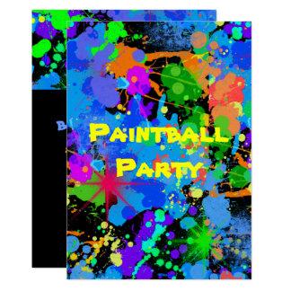 Pinte o Splatter, falso néon, convite do