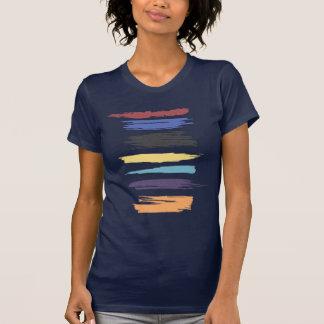 Pinte raias abstratas artísticas da cor dos cursos t-shirts