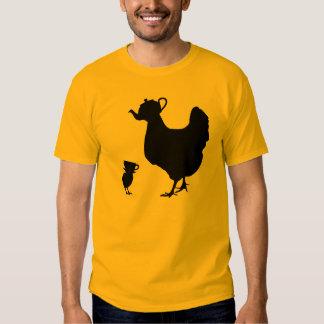 Pintinho amarelo do bule da galinha t-shirt